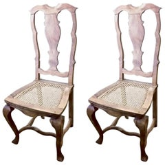 Pair of Swedish 18th Century Rococo Side Chairs, circa 1760-1770