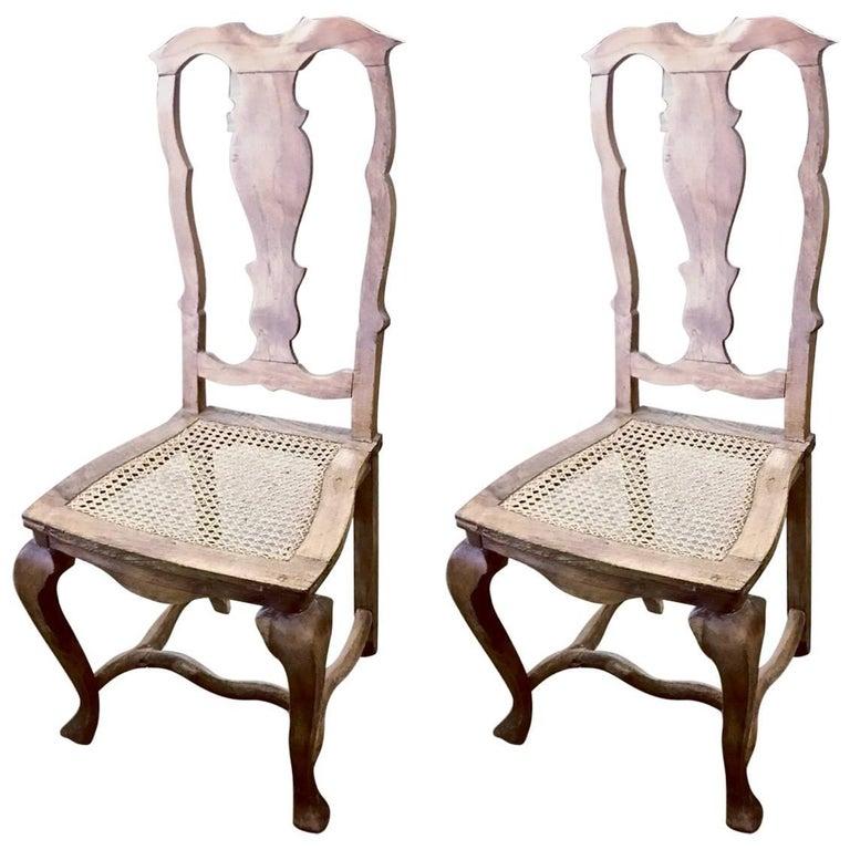 Pair of Swedish 18th Century Rococo Side Chairs, circa 1760-1770