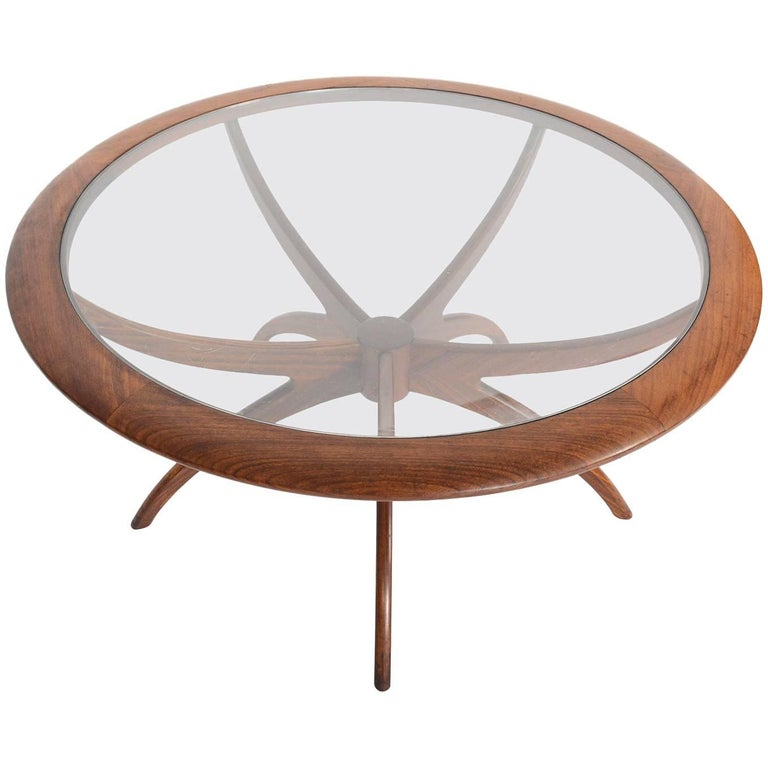 Mid-Century Modern G Plan Spider Teak and Glass Coffee Table