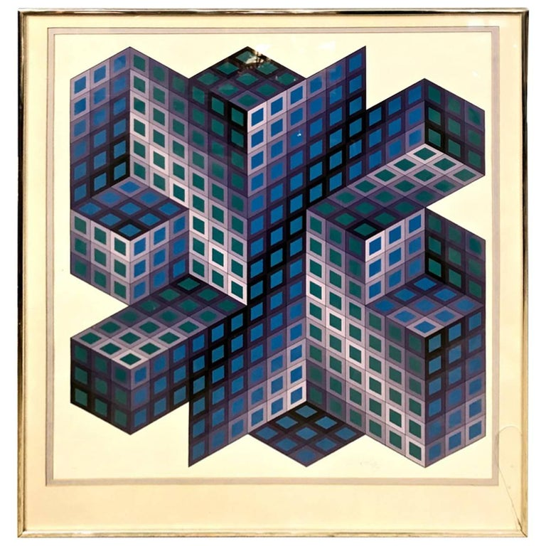 Victor Vasarely Signed and Numbered Lithograph
