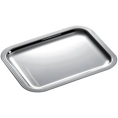 Christofle Silver Plated Rectangular Tray, Model Albi Bagatelle, in It's Box