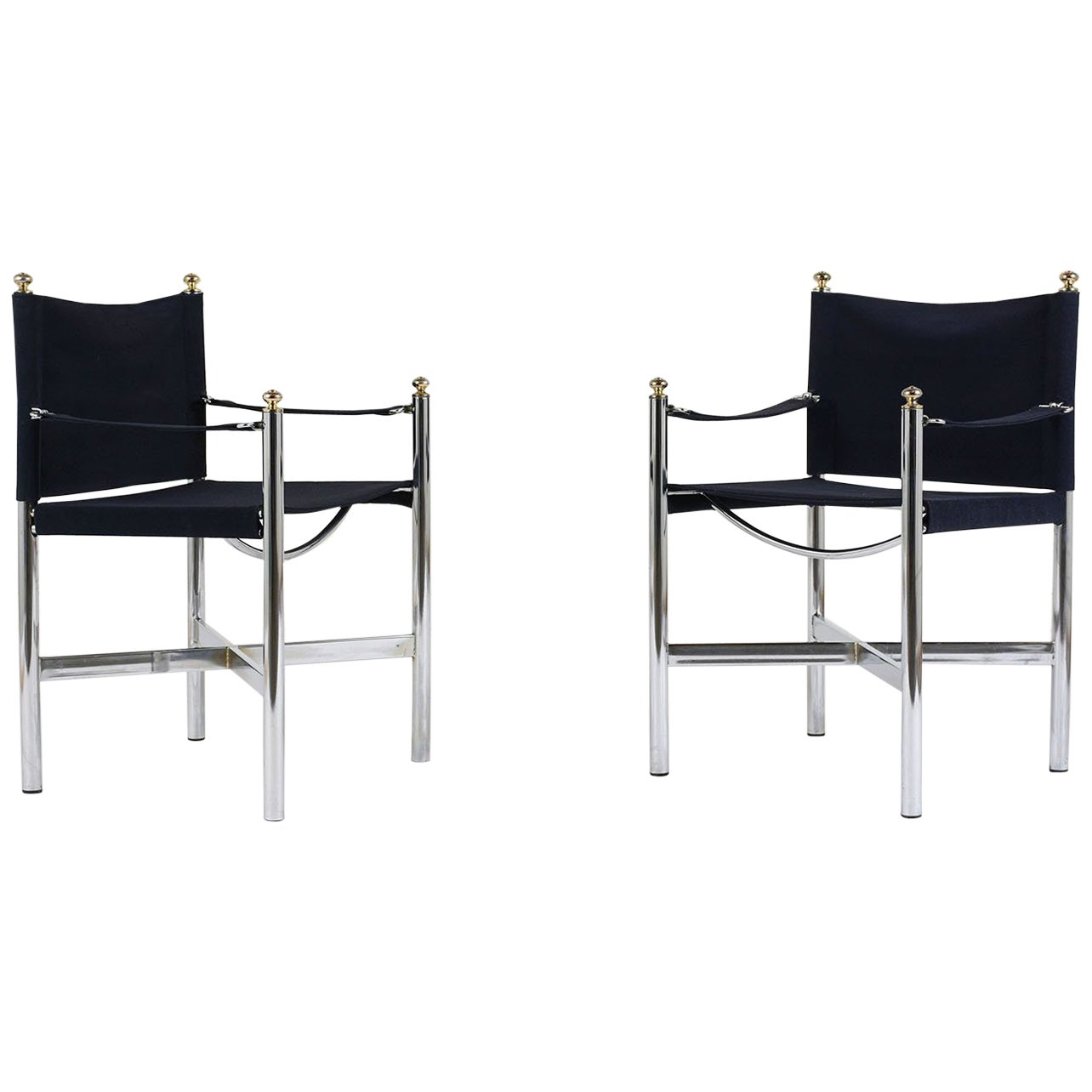 Pair of Modern Suede Armchairs