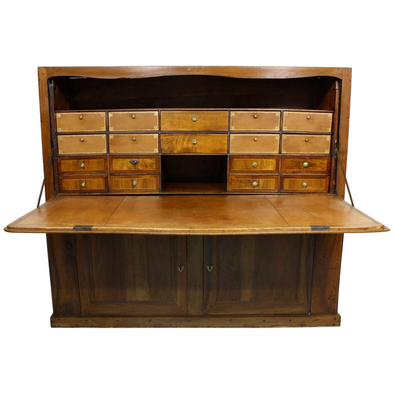 Large French Directoire Period Traveling Secretary For Sale
