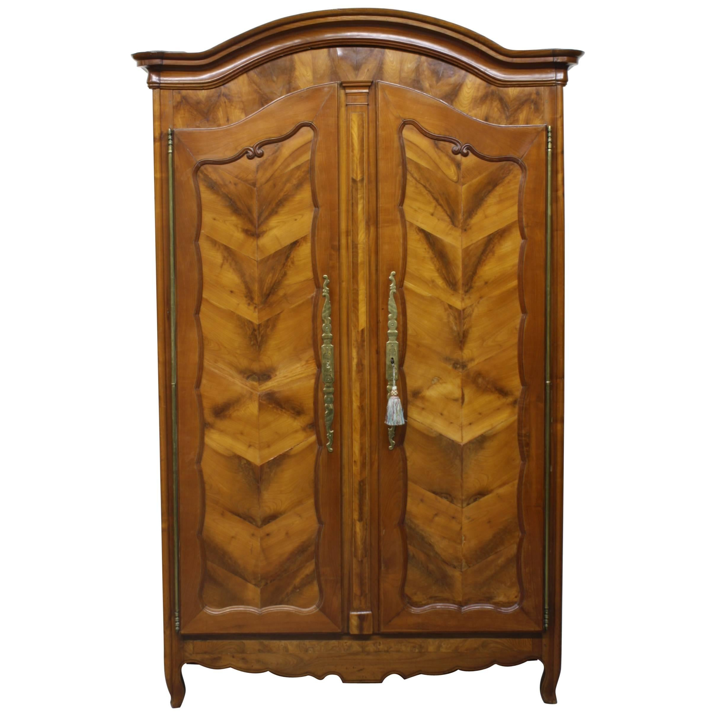 French Wild Cherry U0026quot;Fougèreu0026quot; Armoire