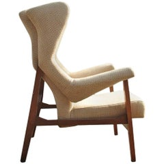 Franco Albini Rare Fiorenza Lounge Chair, Arflex, Milano, 1956