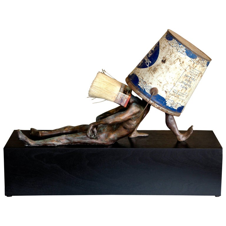 Steven Michael Beck Bronze Periwinkle Blue, 2018 For Sale
