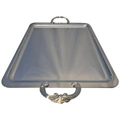 Christofle Silver Plated Rectangular Tray Carnavalet
