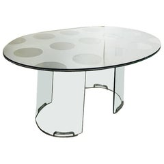 Designed by Luigi Massoni for Gallotto & Radice Italian Crystal Dining Table