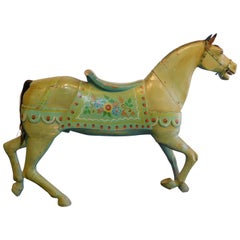 19th Century Hand-Painted and Carved Carousal Wooden Horse
