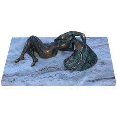 Nude Bronze Abstract Sculpture