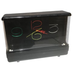 Mid-Century Modern Neon Electric Clock