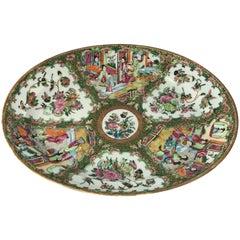 19th Century Rose Medallion Oval Platter