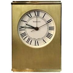 Tiffany & Co. Swiss Movement Table Alarm Clock, with Concealed Chamber