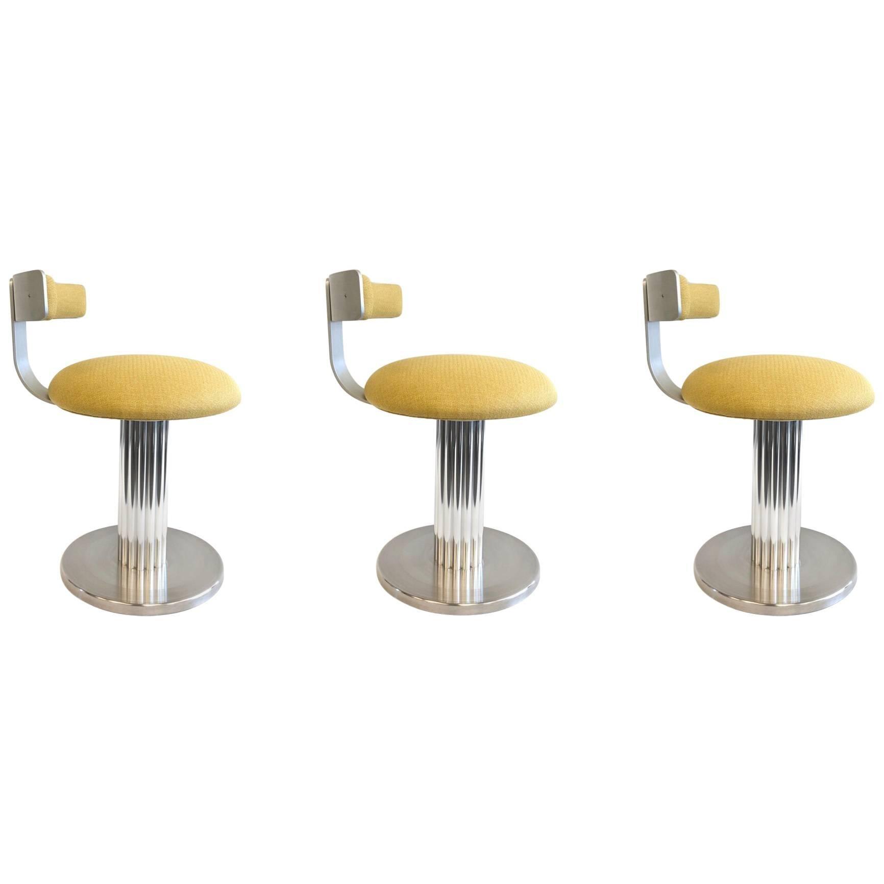 Set of Three Aluminium Swivel Stools by Design for Leisure Ltd