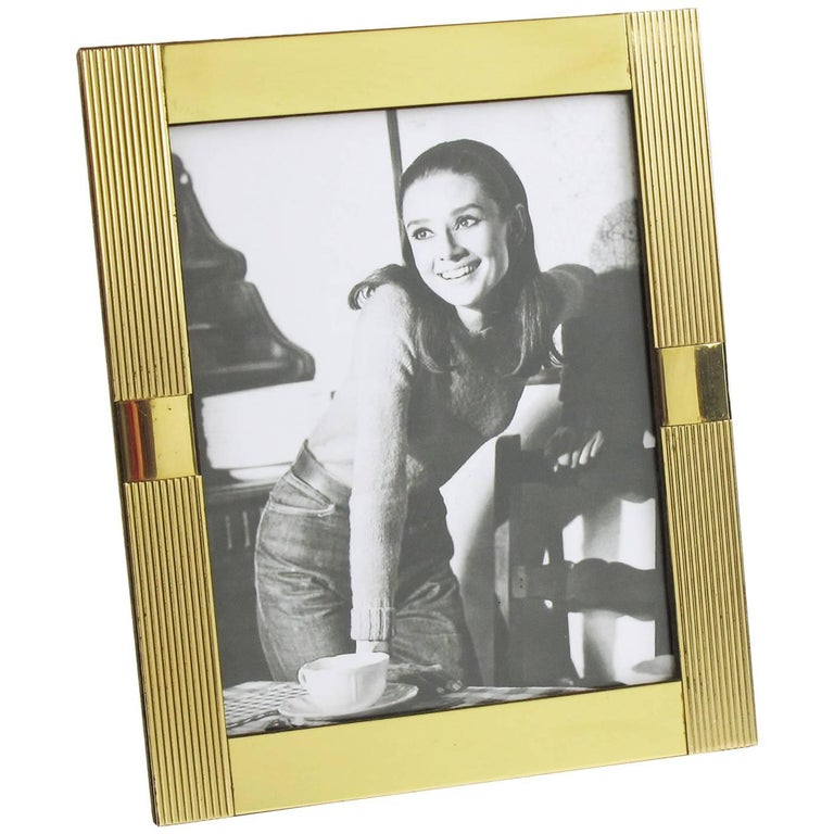 Noel B.C. Italy 1970s Modernist Brass Picture Photo Frame