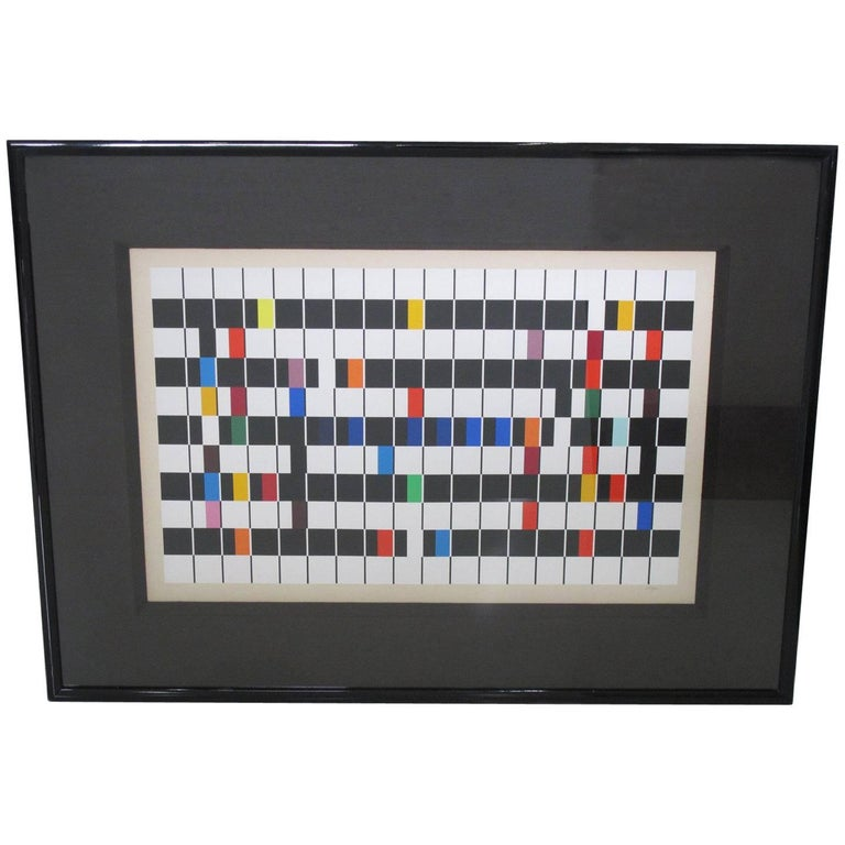 Yaacov Agam One and another Kinetic Op Art Serigraph Signed and Numbered