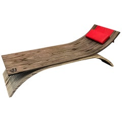 Contemporary Wood Chaise Longue Made in Italy by Fad Milano