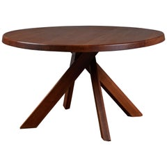 Elm Dining Table by Pierre Chapo