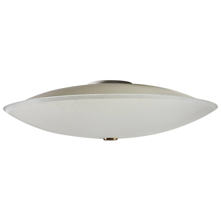 Flush Mount Ceiling Light by Stilnovo For Sale