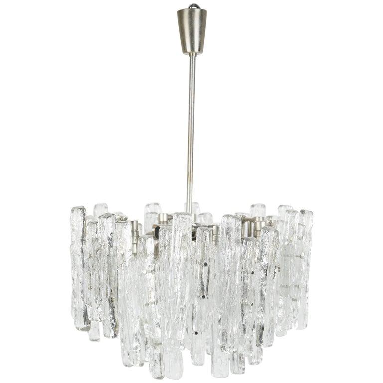 Kalmar Matte Ice Glass Chandelier