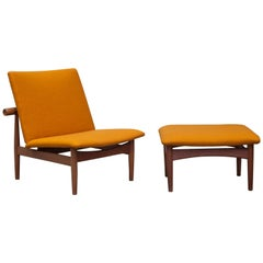 Finn Juhl Lounge Chair Plus Ottoman Japan Series, 1953