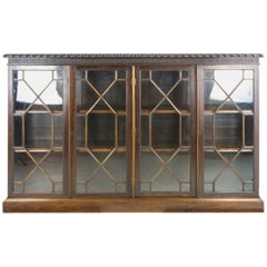 Walnut Bookcase, Antique Bookcase, Scotland 1910, Antique Furniture   REDUCED!