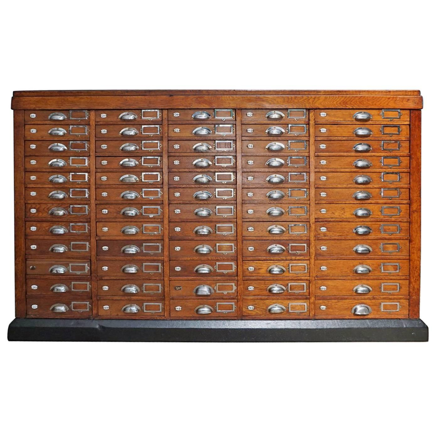 French Oak Apothecary Cabinet, 1930s For Sale