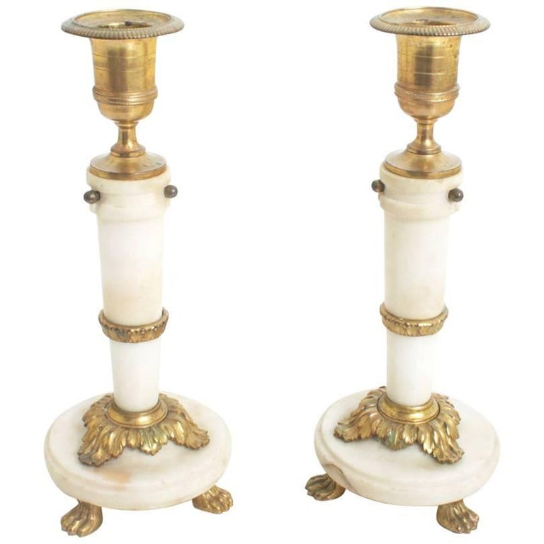 Candlesticks France First Half of the 19th Century For Sale
