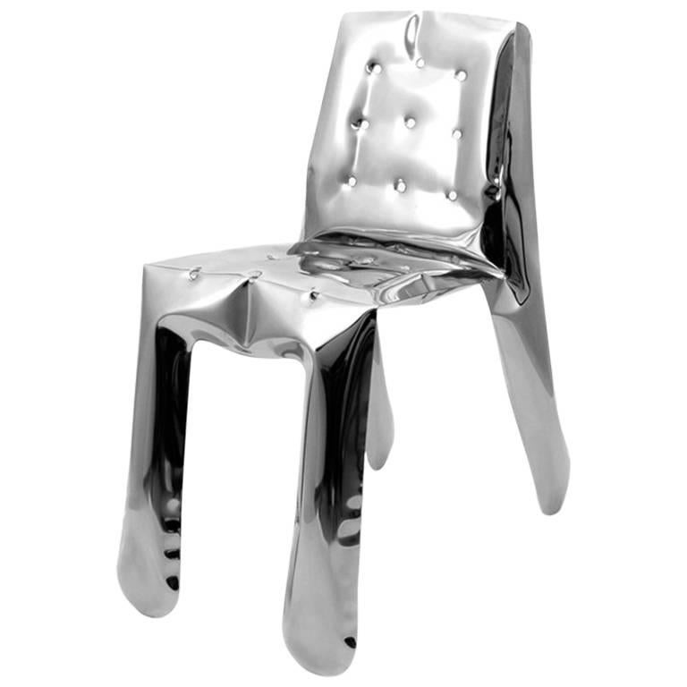 Chippensteeel 0.5 Chair by Zieta Prozessdesign, Stainless Steel Inox Version For Sale
