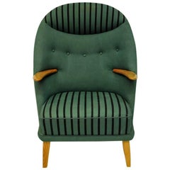 Green Armchair Model 53 from 1950s by Kurt Østervig, Denmark
