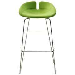 Fjord Bar Stool High by Patricia Urquiola for Moroso with Fabric or Leather Seat