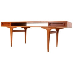 Dyrlund Coffee Teak Table with Drawers, Denmark, 1960s
