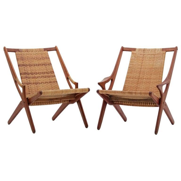 Pair of Danish Easy Chairs by Arne Hovmand-Olsen, Model 300