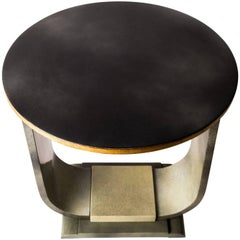 Green Lacquered Art Deco Side Table, Italy, circa 1930