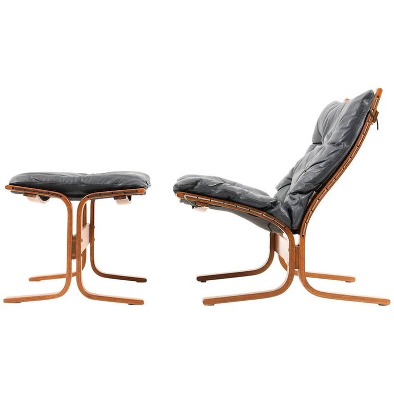 Lounge Chair and Ottoman by Ingmar Relling for Westnofa
