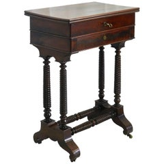 Travailleuse Louis Philippe Table French 19th Century Writing Sewing