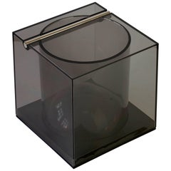 Studio Opi Toned Acrylic Ice Bucket or Holder for Cini & Nils, Milan, 1970s