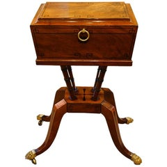 Regency Mahogany Inlaid Workbox