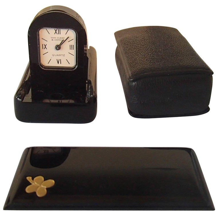 Modern Travelling Clock by Van Cleef & Arpels Foldable in Case and Original Box