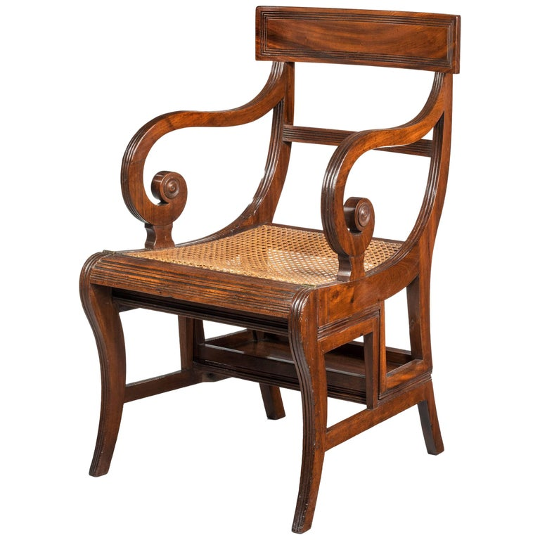 Regency Period Metamorphic Library Chair For Sale