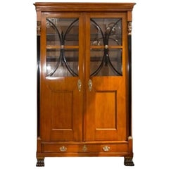 Antique Biedermeier Bookcase, 1830s