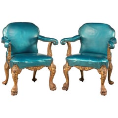 Pair of 19th Century Giltwood Armchairs by Morant and Co