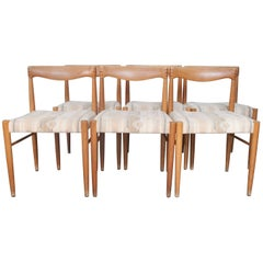 Set of Six H.W. Klein Teak Dining Chairs for Bramin Mobler, Denmark, 1965
