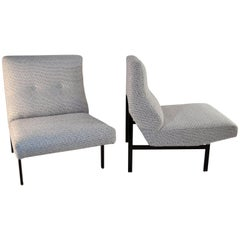Mid Century Modern Slipper Lounge Chairs Italy