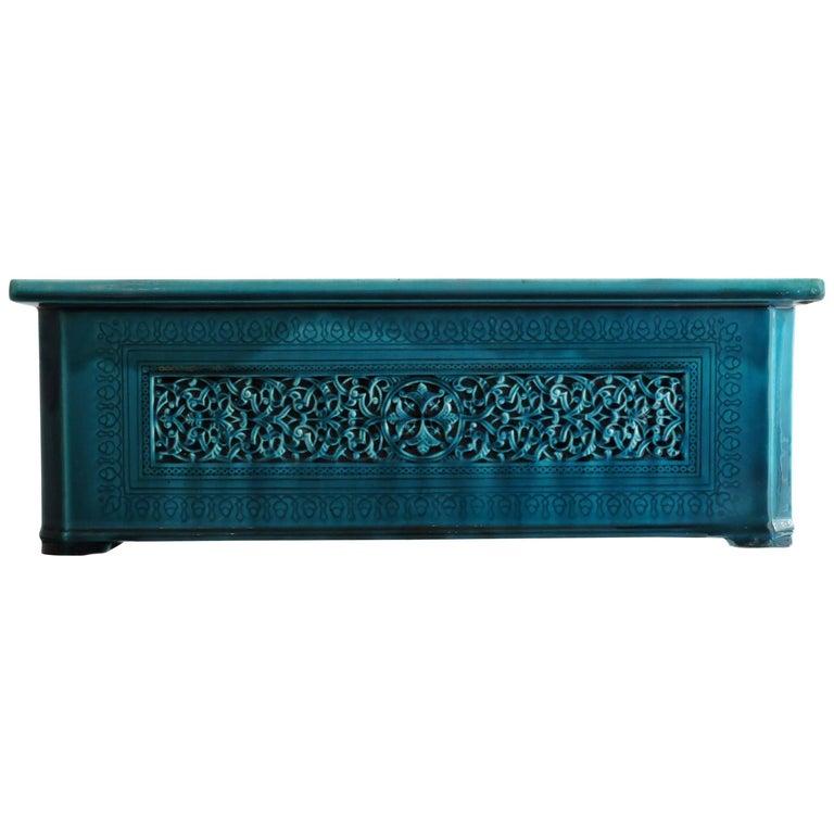 Théodore Deck Blue-Persian Faience Islamic Design Jardinière 19th Century For Sale