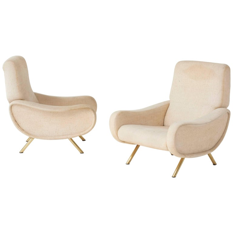 Marco Zanuso Lady Chairs, Arflex, Italy, 1960s (complimentary reupholstery)