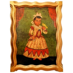 Antique Mexican Framed Spanish Colonial Painting