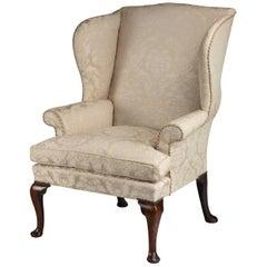 George II Period Walnut Framed Wing Chair
