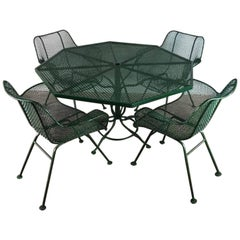 Russell Woodard Sculpture Steel Patio Set