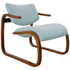 Scandinavian Modern Lounge Chair in Beech by Oddvin Rykken & Co, 1970s, Norway
